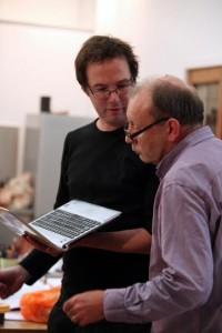 Tom Piper and Michael Boyd, phot by Ellie Kurttz