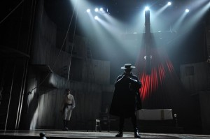 Zorro by Gypsy Kings and Stephen Clark directed by Chris Renshaw, Design by Tom Piper, lighting by Ben Ormerod