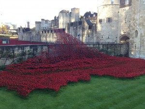 The wave from blood swept Lands and seas of Red. Poppies created by Paul Cummins ,wave design By Tom Piper