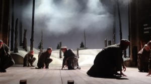 Christmas Truce by Phil Porter, RST 2014. Directed by Erica Whyman, Designed by Tom Piper, Lighting by Charles Balfour